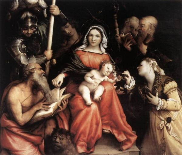 Mystic Marriage of St Catherine 1524
